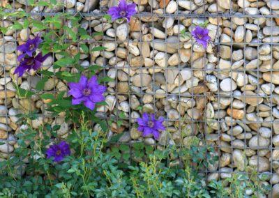 Bild von Gartenmauer mit Naturstein